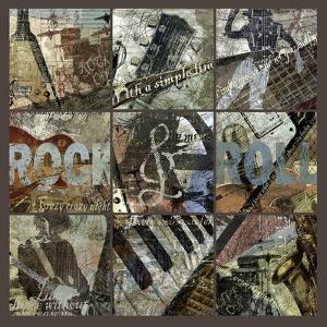Rock and Roll 9-Patch- with Grid by Eric Yang