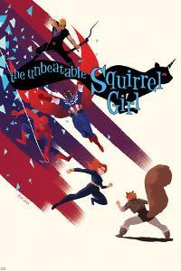 The Unbeatable Squirrel Girl #7 Cover with Squirrel Girl, Black Widow, Falcon Cap & More by Erica Henderson