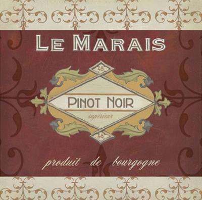 Burgundy Wine Labels I by Erica J. Vess
