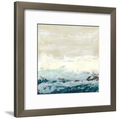 Aqua Tide Jan Weiss Abstract Contemporary Print Poster 13x16