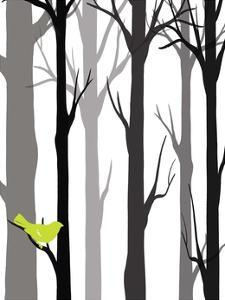 Forest Silhouette I by Erica J. Vess