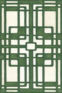Non-Embellished Emerald Deco Panel I by Erica J^ Vess