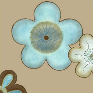 Pop Blossoms in Blue II by Erica J^ Vess
