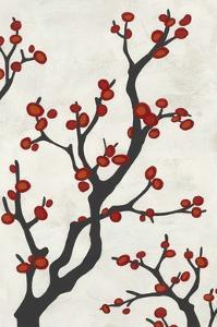 Red Berry Branch I by Erica J^ Vess