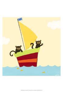 Sailboat Adventure III by Erica J^ Vess