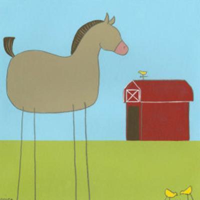 Stick-Leg Horse I by Erica J. Vess