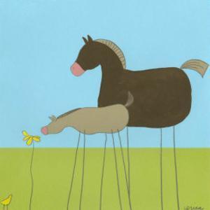 Stick-Leg Horse II by Erica J^ Vess