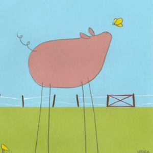 Stick-Leg Pig I by Erica J. Vess