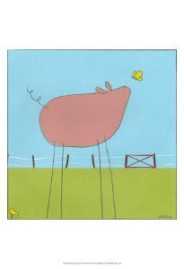 Stick-Leg Pig I by Erica J^ Vess