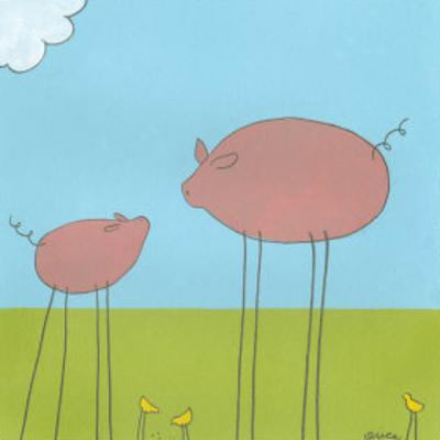 Stick-Leg Pig II by Erica J. Vess