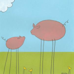 Stick-Leg Pig II by Erica J^ Vess
