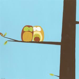 Treetop Owls IV by Erica J^ Vess