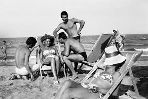 Cesenatico: the happy life on an Italian beach,1960. by Erich Lessing