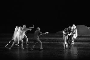 Georges Balanchineworking with the dancers of the Paris Opera, Palais Garnier, Paris,1973. by Erich Lessing