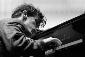 Glenn Gould performing with the Berlin Philharmonic Orchestra under Herbert von Karajan.Berlin1957 by Erich Lessing
