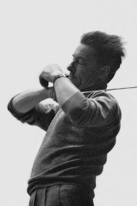 Herbert von Karajan conducting the Berlin Philharmonic. Berlin,1957. by Erich Lessing
