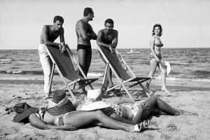 Life on the beach of Cesenatico, Italy. by Erich Lessing