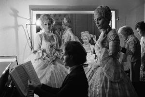 """Piano-repetition for Richard Strauss' """" Rosenkavalier"""" at the Paris Opera. Paris, 1973. by Erich Lessing"""