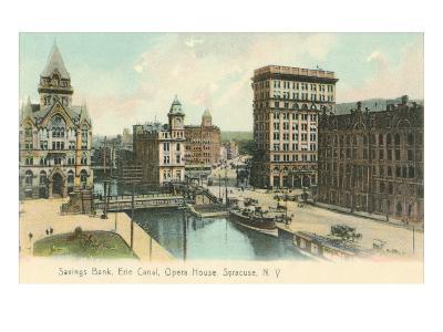 Erie Canal and Opera House, Syracuse, New York--Art Print