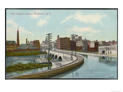 Erie Canal the Canal Aqueduct at Rochester New York--Giclee Print