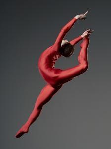 Ballet Dancer in Red Leotard by Erik Isakson