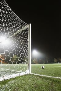 Usa, California, Ladera Ranch, Football in Front of Goal by Erik Isakson