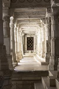 Ornate Marble Columns Of The Famous Jain Temple Ranakpur Located In Rural Rajasthan, India by Erik Kruthoff