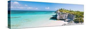 Turquoise Blue Waters, Dramatic Limestone Cliffs, At Lighthouse Point, Island Of Eleuthera, Bahamas by Erik Kruthoff