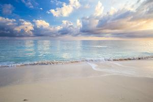 Turquoise Caribbean Waters On A White Sand Beach At Sunrise Image Taken In Eleuthera, The Bahamas by Erik Kruthoff