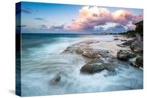 Waves On A Rocky Shoreline. Nassau, Bahamas by Erik Kruthoff