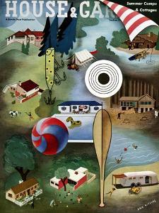 House & Garden Cover - June 1939 by Erik Nitsche