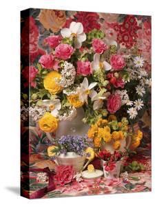flower arrangement home decor allium rustic arrangement.htm garden picture library canvas art for sale prints  paintings  garden picture library canvas art for