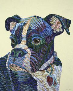 Boxer Portrait by Erika Pochybova