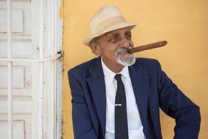 A Cuban with a Cigar by Erika Skogg