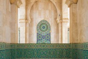Exterior Mosaic Tile Work of the Hassan Ii Mosque by Erika Skogg