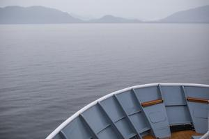 Horizon of Alaska's Inside Passage Is Seen from the Bow of a Cruise Ship by Erika Skogg