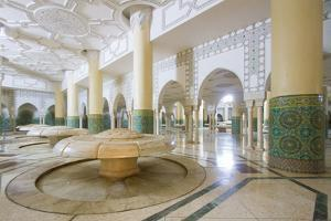 Interior Arches and Mosaic Tile Work of the Hammam Turkish Bath Below the Hassan Ii Mosque by Erika Skogg