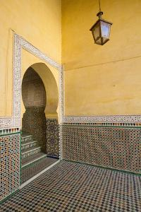 Intricate Tile Mosaics in an Alcove at the Mausoleum of Moulay Ismail by Erika Skogg