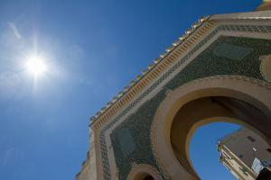 Looking Up at the Blue Gates of Fez, or the Bab Bou Jeloud by Erika Skogg