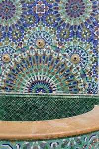 Ornate and Colorful Mosaic Tile Work at the Hassan Ii Mosque by Erika Skogg