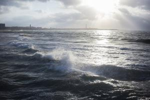 The Atlantic Ocean Along the Coast of Casablanca by Erika Skogg