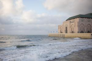 The Hassan Ii Mosque on the Edge of the Atlantic Ocean in Casablanca by Erika Skogg