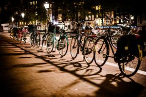 Amsterdam Bikes at Night I by Erin Berzel