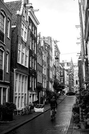 Amsterdam Black and White Street