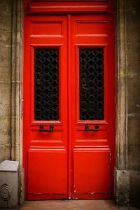Red Door in Paris by Erin Berzel