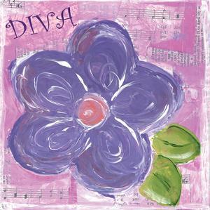 Flowers 3 Purple Flower by Erin Butson