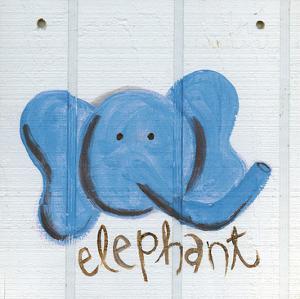 Happy Blue Elephant by Erin Butson
