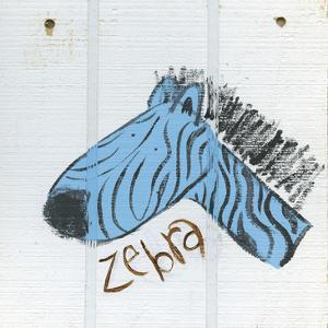 Happy Blue Zebra by Erin Butson