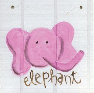 Happy Pink Elephant by Erin Butson