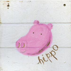 Happy Pink Hippo by Erin Butson
